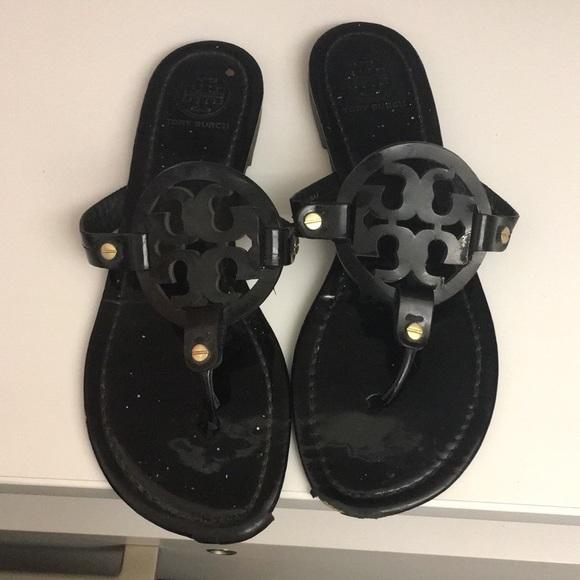 "a66856a96 Tory Burch ""Miller"" patent leather sandal. M 5b5f938f81bbc8fcf2e67936"